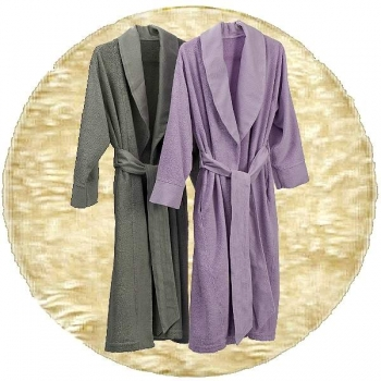 Abyss & Habidecor Amigo Bath Robe, 100% Egyptian Giza 70 cotton, 400 g/m², Size L, 101 Ecru