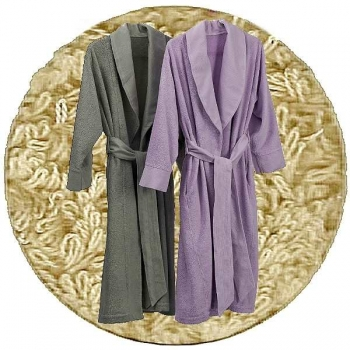 Abyss & Habidecor Amigo Bath Robe, 100% Egyptian Giza 70 cotton, 400 g/m², Size L, 770 Linen