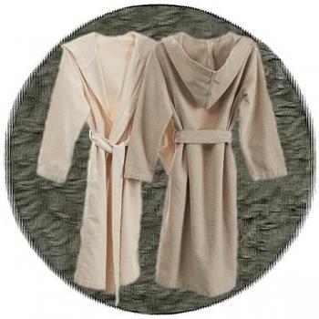 Abyss & Habidecor Capuz Spa Bath Robe, 100% Egyptian Giza 70 cotton, 350 g/m², Size S, 920 Gris