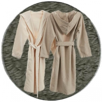 Abyss & Habidecor Capuz Spa Bath Robe, 100% Egyptian Giza 70 cotton, 350 g/m², Size L, 920 Gris