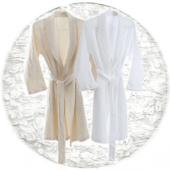 Abyss & Habidecor Pousada Bath Robe, 100% Egyptian Giza 70 cotton, 300 g/m², Size L, 100 White