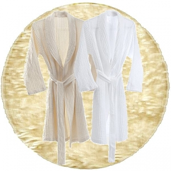 Abyss & Habidecor Pousada Bath Robe, 100% Egyptian Giza 70 cotton, 300 g/m², Size S, 101 Ecru
