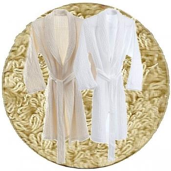 Abyss & Habidecor Pousada Bath Robe, 100% Egyptian Giza 70 cotton, 300 g/m², Size S, 770 Linen