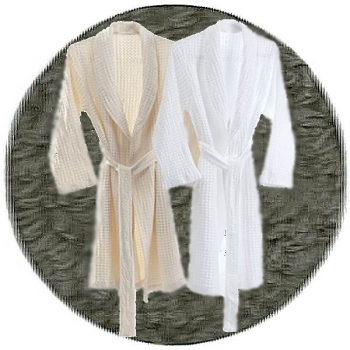 Abyss & Habidecor Pousada Bath Robe, 100% Egyptian Giza 70 cotton, 300 g/m², Size L, 920 Gris