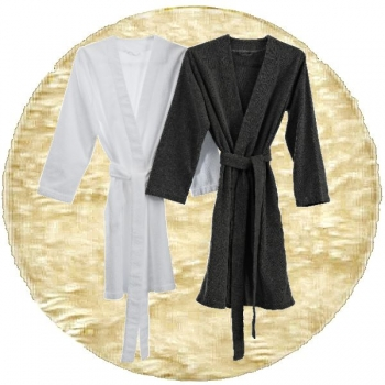 Abyss & Habidecor Spa Bath Robe, 100% Egyptian Giza 70 cotton, 350 g/m², Size M, 101 Ecru