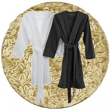 Abyss & Habidecor Spa Bath Robe, 100% Egyptian Giza 70 cotton, 350 g/m², Size L, 770 Linen