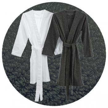 Abyss & Habidecor Spa Bath Robe, 100% Egyptian Giza 70 cotton, 350 g/m², Size S, 920 Gris