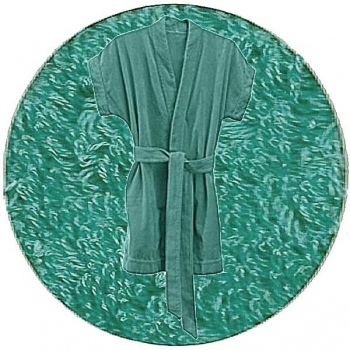 Abyss & Habidecor Summer Bath Robe, 100% Egyptian Giza 70 cotton, 350 g/m², Size S, 302 Lagoon