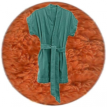 Abyss & Habidecor Summer Bath Robe, 100% Egyptian Giza 70 cotton, 350 g/m², Size L, 605 Mandarin