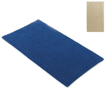 Abyss & Habidecor Bath Mat Bay, 50 x 80 cm, 100% Egyptian Giza 70 cotton, combed, 770 Linen