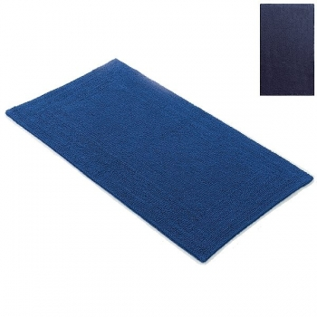 Abyss & Habidecor Bath Mat Bay, 70 x 140 cm, 100% Egyptian Giza 70 cotton, combed, 332 Cadette Blue