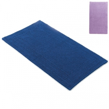 Abyss & Habidecor Bath Mat Bay, 70 x 140 cm, 100% Egyptian Giza 70 cotton, combed, 430 Lupin