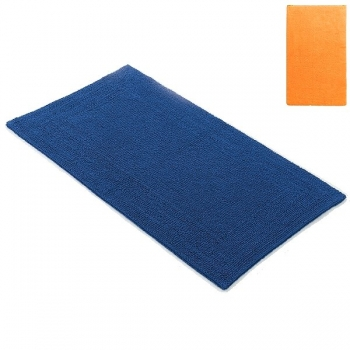 Abyss & Habidecor Bath Mat Bay, 70 x 140 cm, 100% Egyptian Giza 70 cotton, combed, 635 Orange