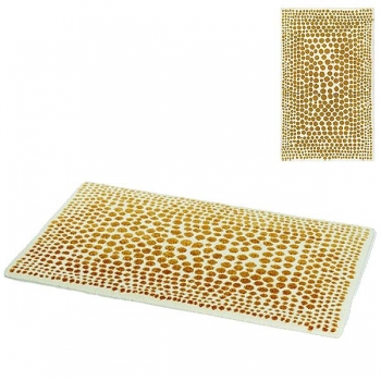 Abyss & Habidecor Bath Mat Dolce, 60 x 100 cm, 60% cotton, combed, 20% acrylic, 20% lurex, 800 Gold
