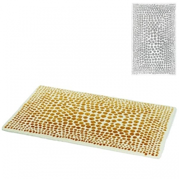 Abyss & Habidecor Bath Mat Dolce, 70 x 120 cm, 60% cotton, combed, 20% acrylic, 20% lurex, 900 Silver