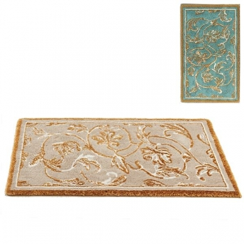 Abyss & Habidecor Bath Mat Dynasty, 70 x 140 cm, 80% cotton, combed, 10% acrylic, 10% lurex, 220 Turquoise