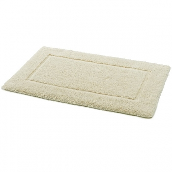 Abyss & Habidecor Bath Mat Ivoire, 60 x 100 cm, 70% natural cotton, 30% silk, 101 Ecru