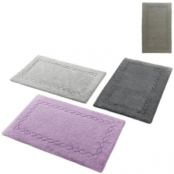 Abyss & Habidecor Bath Mat Kelly, 50 x 80 cm, 100% Egyptian Giza 70 cotton, combed, 920 Gris