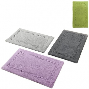 Abyss & Habidecor Bath Mat Kelly, 60 x 100 cm, 100% Egyptian Giza 70 cotton, combed, 165 Apple Green