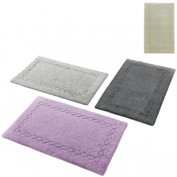Abyss & Habidecor Bath Mat Kelly, 70 x 140 cm, 100% Egyptian Giza 70 cotton, combed, 992 Platinum