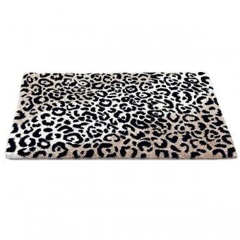 Abyss & Habidecor Bath Mat Leopard, 60 x 100 cm, 60% cotton, combed, 40% acrylic, 990 Black