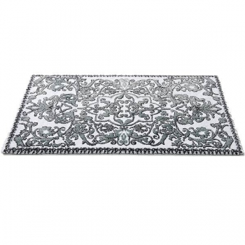 Abyss & Habidecor Bath Mat Perse, 70 x 125 cm, 80% cotton, combed, 10% acrylic, 10% lurex, 992 Platinum