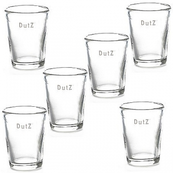 DutZ®-Collection 6 drinking glasses Doina, conic, h 9.5 x Ø 7.5 cm, clear