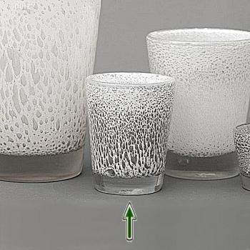 DutZ®-Collection Vase Conic mit Bubbles, H 19  x  Ø.15 cm, Weiß