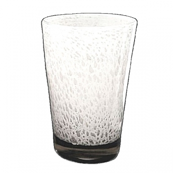 Collection DutZ® vase Conic avec des bulles, h 36 x Ø 24 cm, blanc
