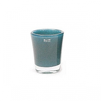 DutZ®-Collection Vase Conic with bubbles, h 19  x  Ø.15 cm, blue petrol