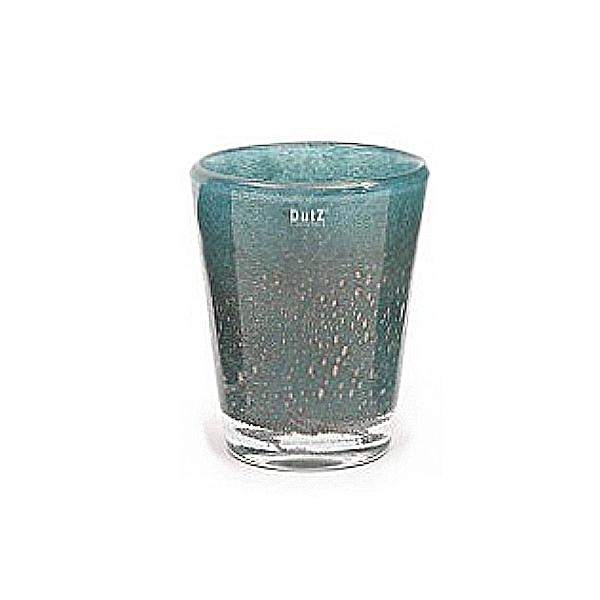Collection DutZ® vase Conic avec des bulles, h 24 x Ø 19 cm, bleu petrol