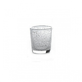 Collection DutZ® vase Conic avec des bulles, h 11 x Ø 9.5 cm, transparent
