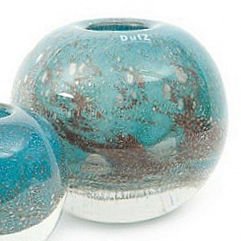 DutZ®-Collection Vase Bubble Ball, H 20 x Ø 20 cm, Blau Petrol