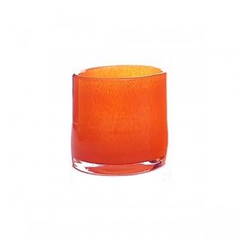 DutZ®-Collection Windlight Votive, h 10 x Ø 10 cm, red orange