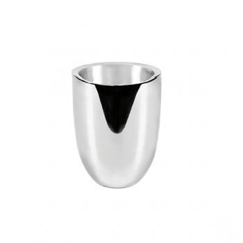 Edzard Wine-Cooler Alicante, polished stainless steel, double walled, h 19 x Ø 14 cm