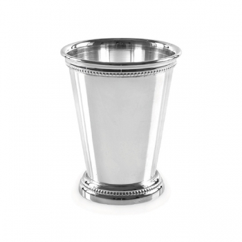 Edzard Drinking Cup Perla, shiny QualiPlated® with silver, h 11 x Ø 8 cm