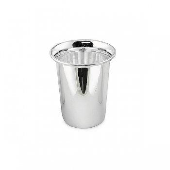 Edzard Drinking Cup Douglas, shiny QualiPlated® with silver, h 8 x Ø 4 cm