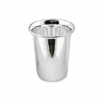 Edzard Drinking Cup Douglas, shiny QualiPlated® with silver, h 9 x Ø 5 cm