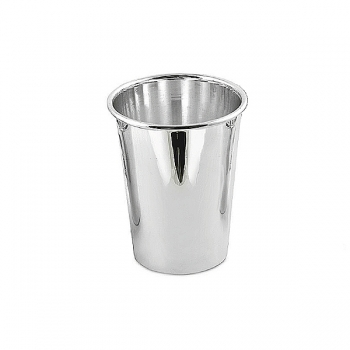 Edzard Drinking Cup Conus, shiny QualiPlated® with silver, h 9 x Ø 4 cm