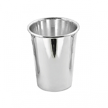 Edzard Drinking Cup Conus, shiny QualiPlated® with silver, h 11 x Ø 6 cm