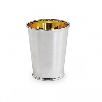 Edzard Drinking Cup Conus, solid silver, gold plated inside, shiny polished, h 9 x Ø 5 cm