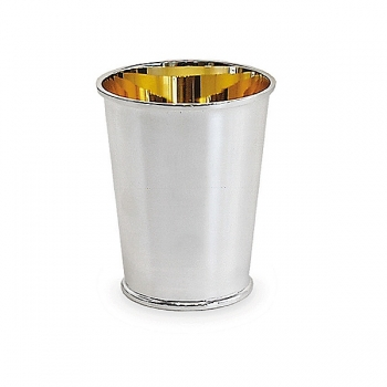 Edzard Drinking Cup Conus, solid silver, gold plated inside, shiny polished, h 11 x Ø 6 cm