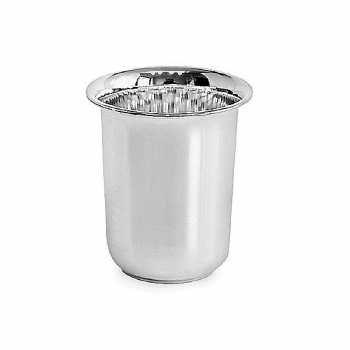 Edzard Drinking Cup Cuno, solid silver, shiny polished, h 8 x Ø 4,5 cm