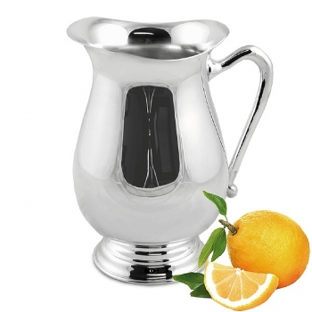Edzard Carafe/Jug/Pitcher Aqua, shiny QualiPlated® with silver, h 24 cm, capacity 1.8 l
