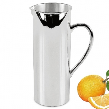 Edzard Carafe/Jug/Pitcher Santana, shiny QualiPlated® with silver, h 25 cm, capacity 1.5 l