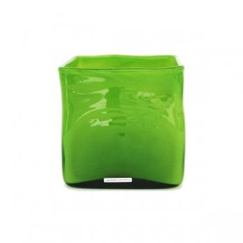 Henry Dean Vase/Windlight Square, h 16 x B 16 x T 16 cm, Apple Green