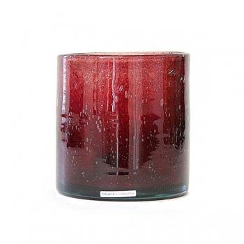 Henry Dean Vase/Windlight Cylinder, h 15 x Ø 15 cm, Garnet