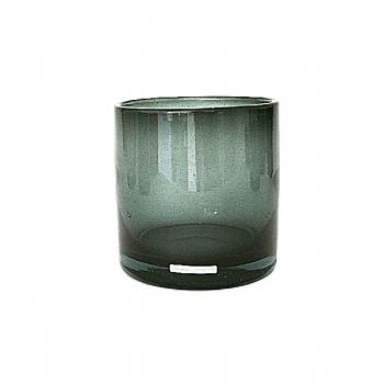 Henry Dean Vase/Windlight Cylinder, h 15 x Ø 15 cm, Smoke