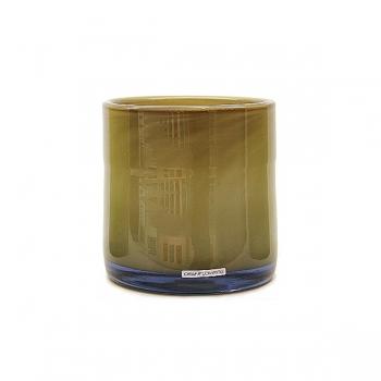 Henry Dean Vase/Windlight Cylinder, h 15 x Ø 15 cm, Taupe