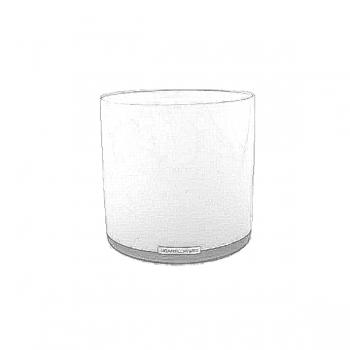 Henry Dean Vase/Windlicht Cylinder, H 15 x Ø 15 cm, Snow